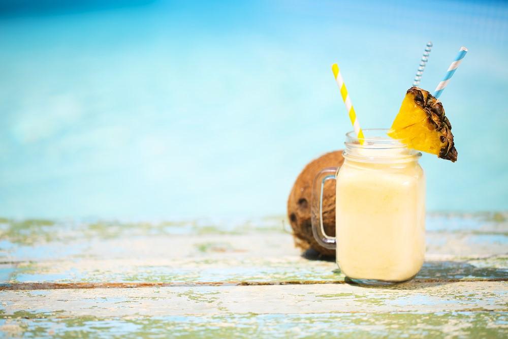 drinks rum in summers